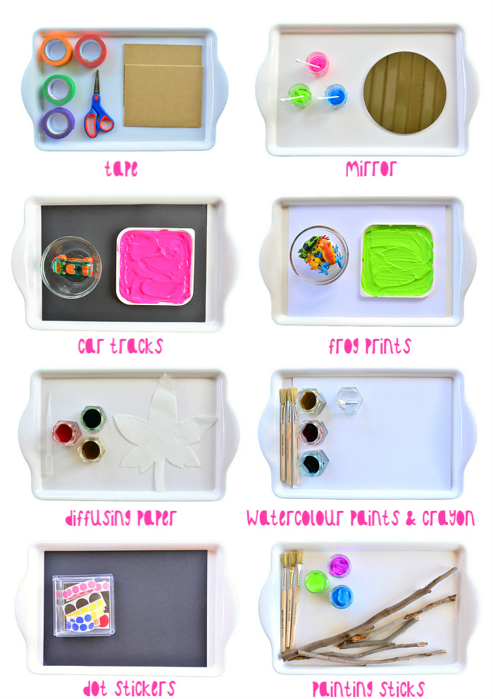 HWM Toddler Art Trays for Otto at 2.yrs old