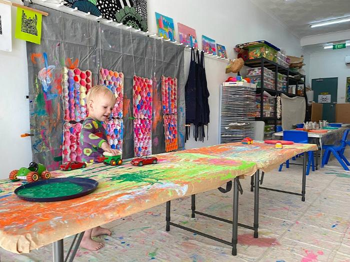 Otto from How we Montessori at Little Ginger Art Studio Randick Toddler Art Class Sydney