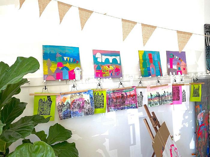 Little Ginger Art Studio at How we Montessori Syndey toddler art class process art class