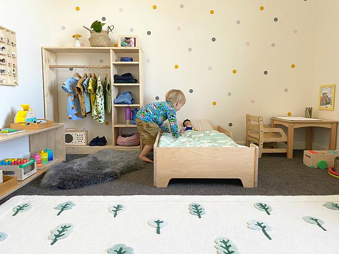 Otto Montessori room Sydney Australia toddler bed