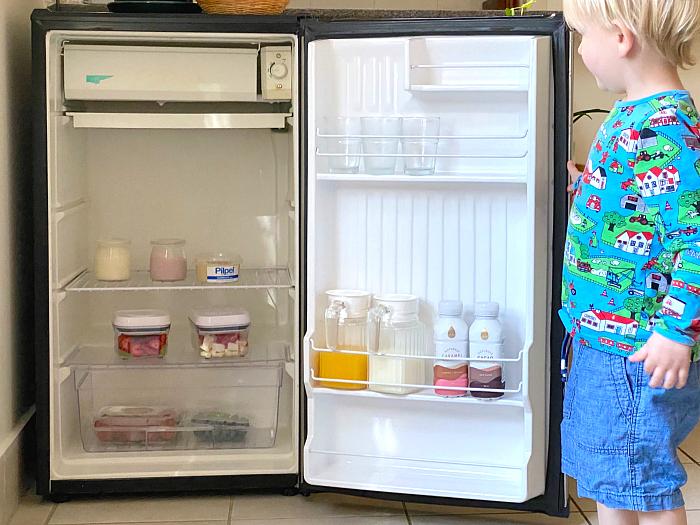 Montessori toddler fridge at How we Montessori