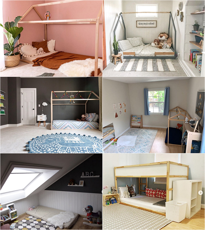 Montessori Bedrooms to Share at How we Montessori