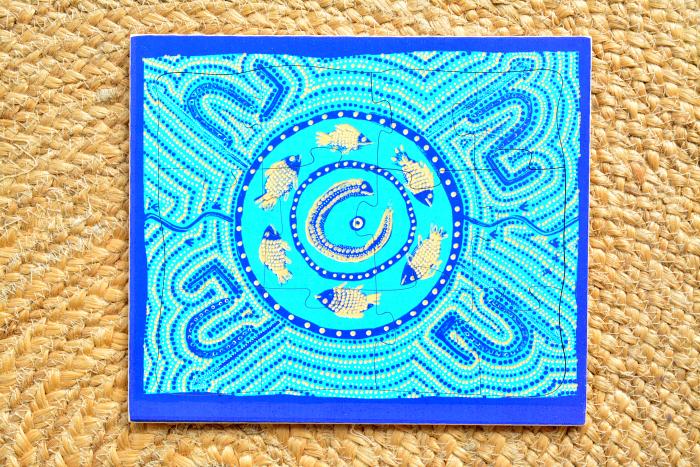 How we Montessori Billabong Puzzle 12 piece Indigenous Puzzle
