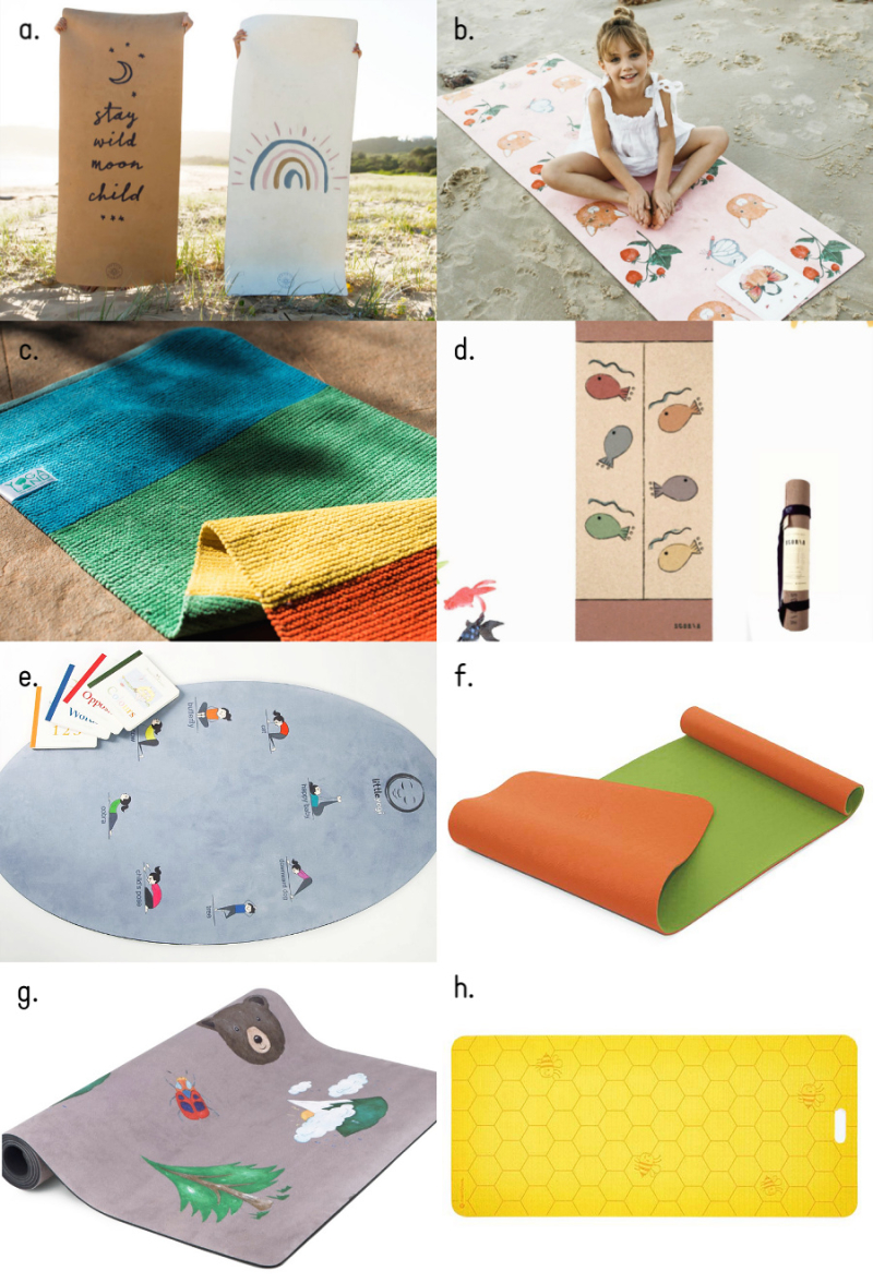 Cute and eco yoga mats for toddlers and children at How we Montessori (2)