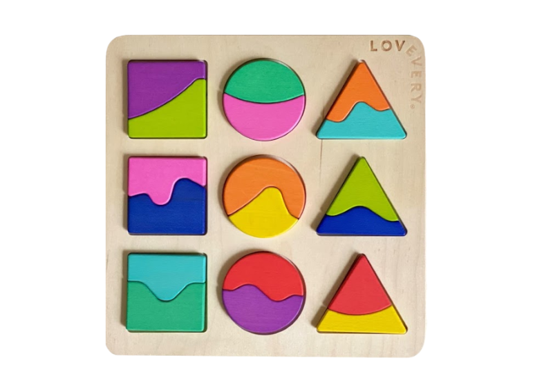 Part Whole Perception Puzzles Montessori toys at two years by Lovevery (1)