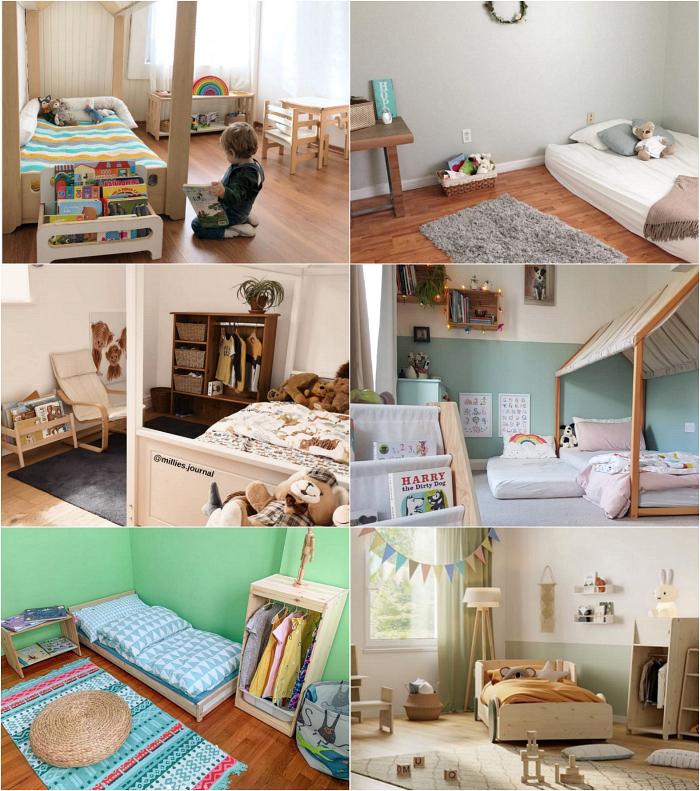 Montessori Bedrooms To Love at How we Montessori July 2020