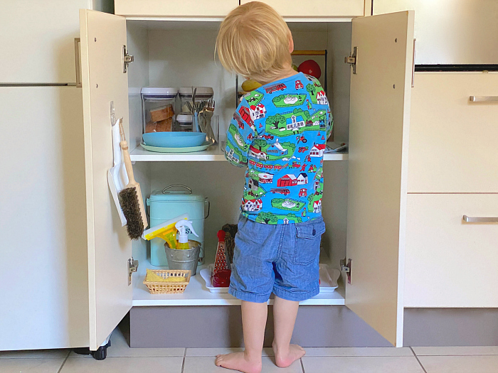 How we Montessori toddler fridge kitchen Sydney