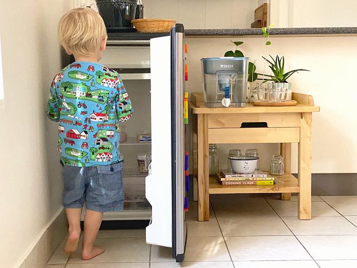 How we Montessori toddler kitchen fridge Otto two yeas old Syndey 2020