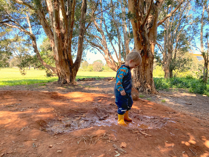Otto at Forest School Bush Kinder Sydney Australia at How we Montessori