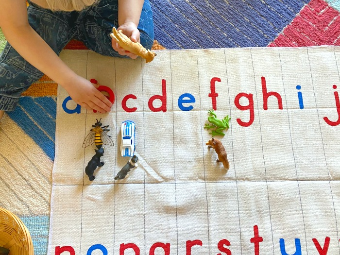 Otto Montessori alphabet roll at how we Montessori