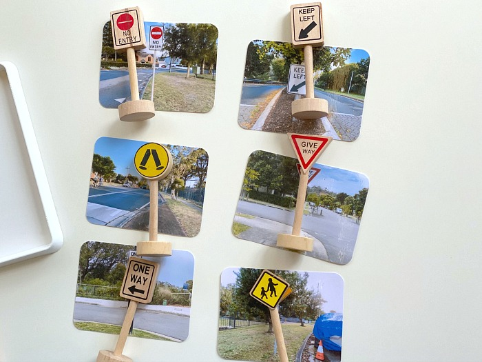 How we Montessori matching road signs