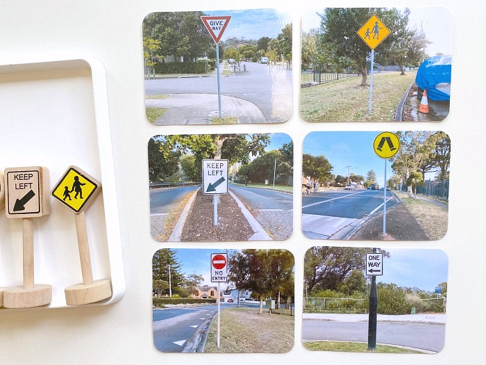 How we Montessori road signs model and cards