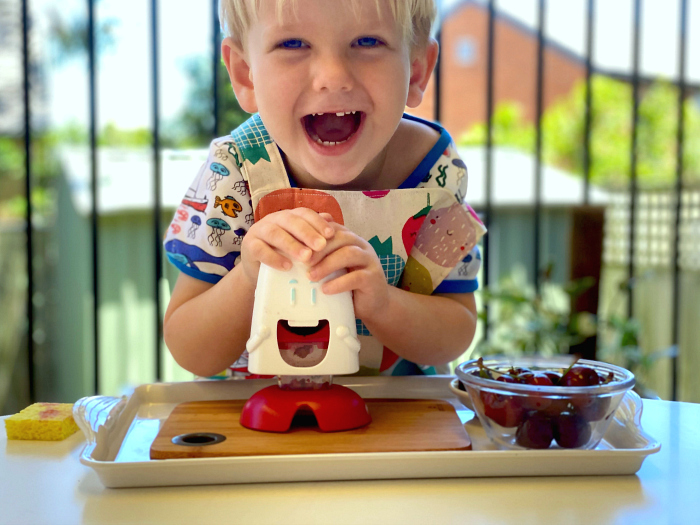 Montessori Cherry Chomper at How we Montessori