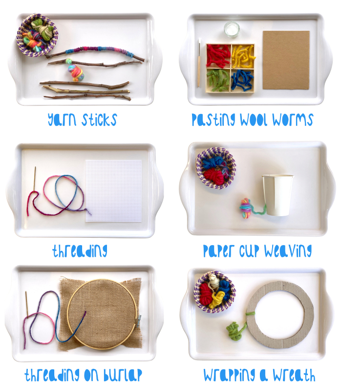 How we Montessori fine motor skill crafts with wool