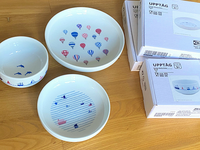 UPPTAG at How we Montessori ceramic plates and bowl from Ikea