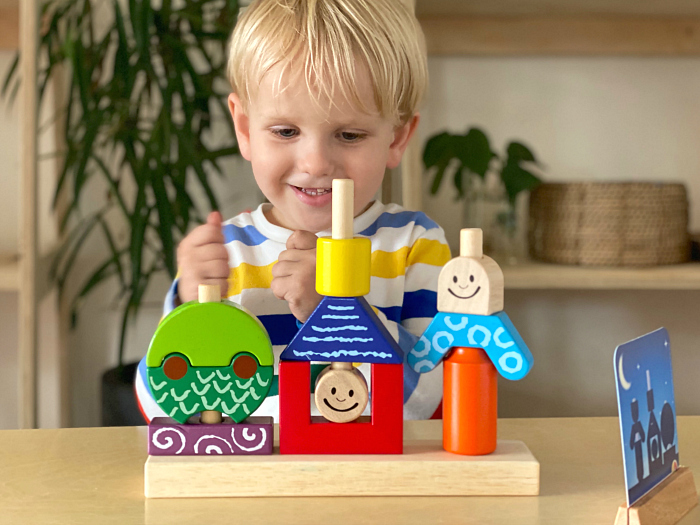 Day Night Cognitive Development game three year old at How we Montessori