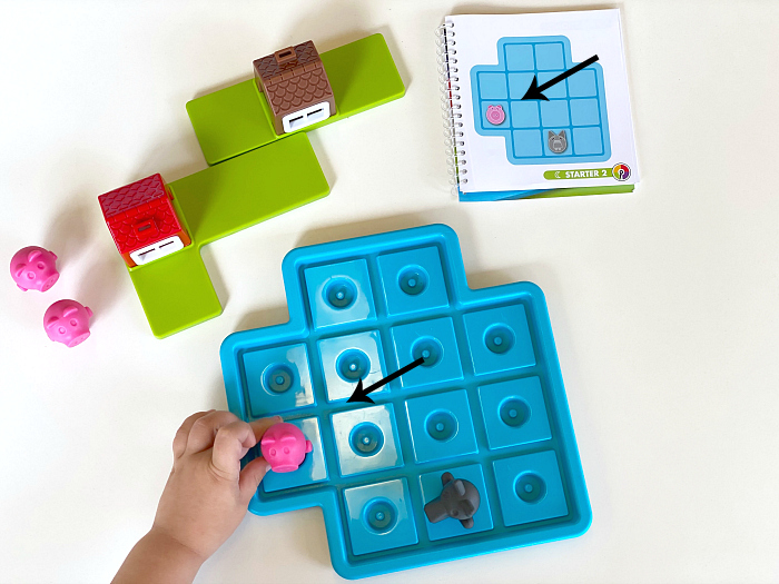 Three LIttle PIgs Board Game at How we Montessori for three year old