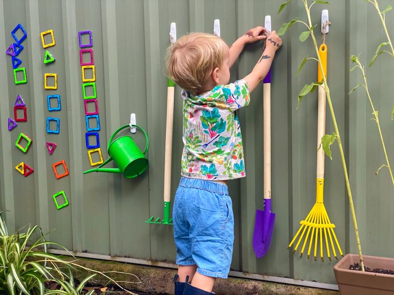 Montessori children's gardening tools at How we Montessori