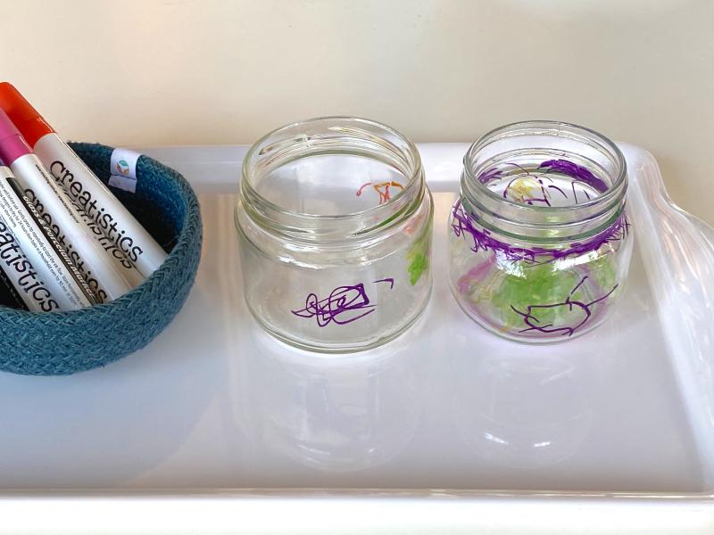 DIYchild made vase jar