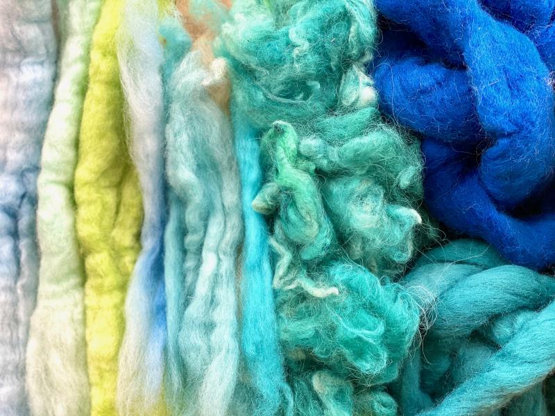 Wool roving felt playmat at How we Montessori