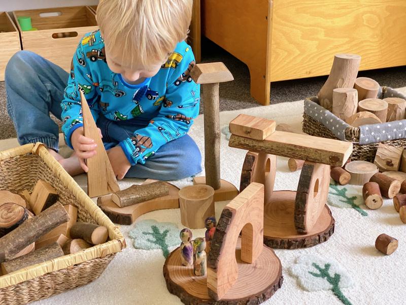 Natural tree blocks at How we Montessori (1)