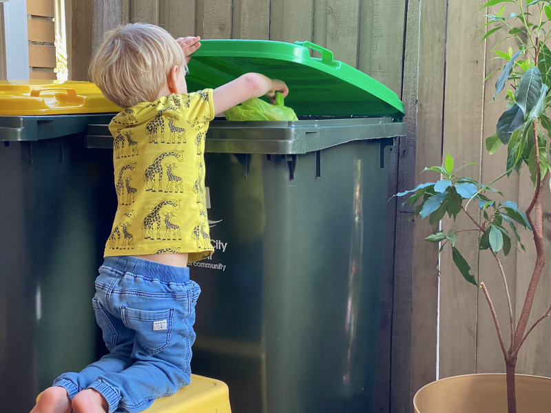 Chores for a three year old at How we Montessori