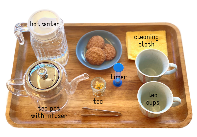 Tea pouring tray at How we Montessori tea pot  (1)