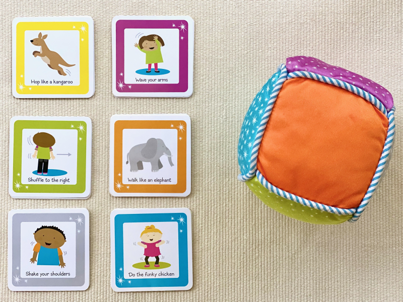 Move and Groove game at How we Montessori for toddlers and early learning movement game