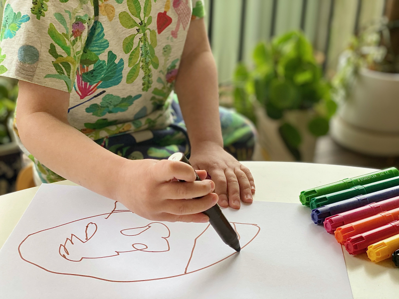 Staedtler Norris Club jumbo markers for three year old at How we Montessori (1)
