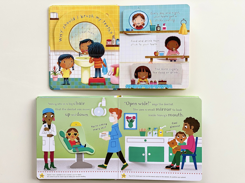 Going to the dentist and why should I brush my teeth books at how we Montessori (1)