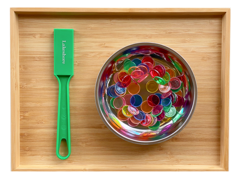 Magnetic chips tray at How we Montessori