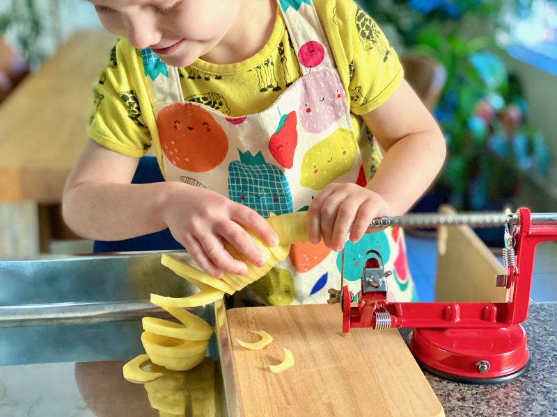 Spiralizer at How we Montessori toddler preschool (1)