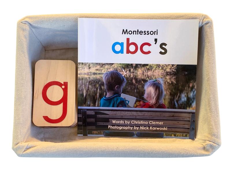 Montessori sandpaper letters alphabet abc book at How we Montessori