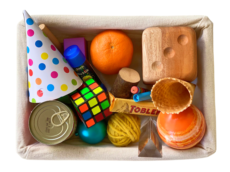 Shape sorting basket with geometric solids at How we Montessori (1)
