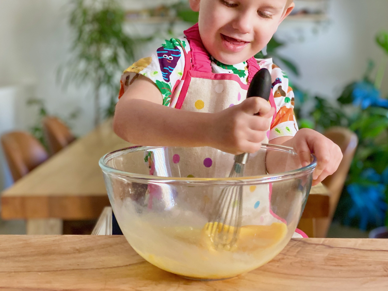 Learning to whisk at How we Montessori