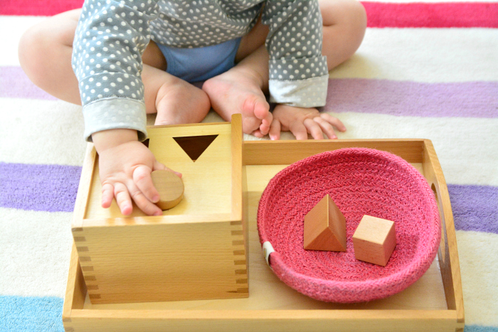 Basic shape storing at 16 months How we Montessori