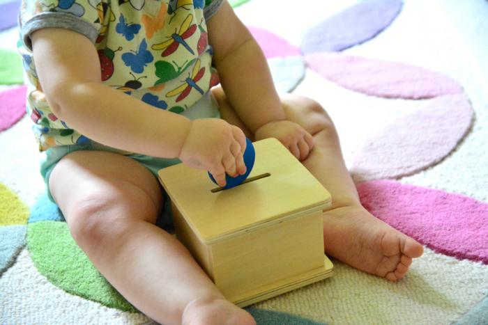 Shelf activities at How we Montessori 11 months