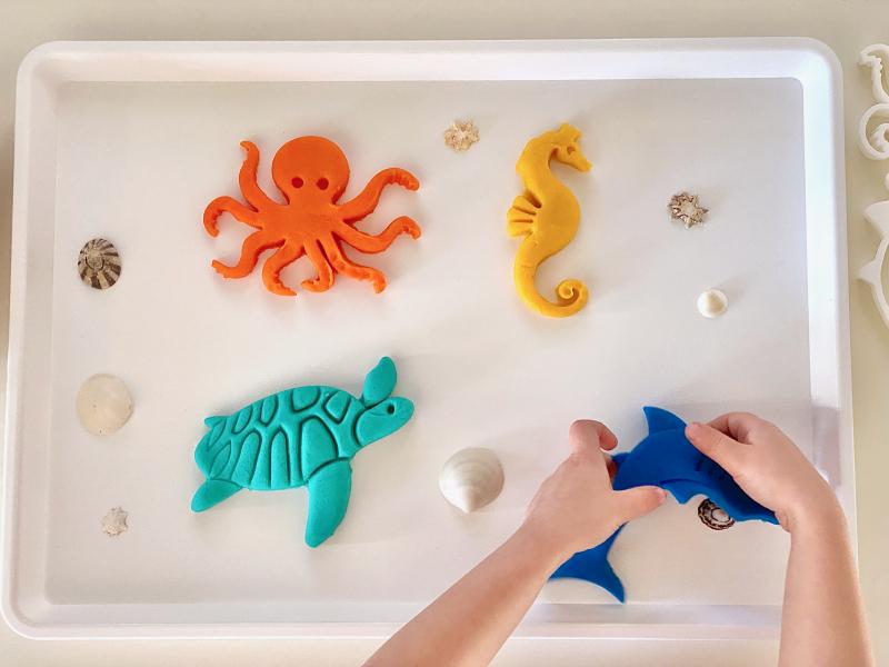 Beadie Bug Bio Cutters sea life at How we Montessori