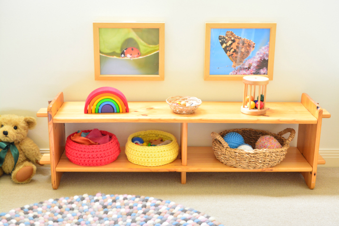 Otto's room at six weeks. How we Montessori