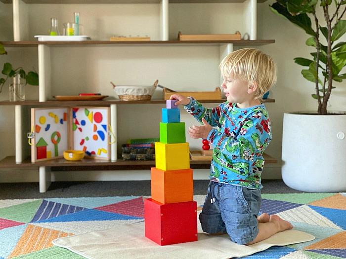 Otto rainbow stacking blocks