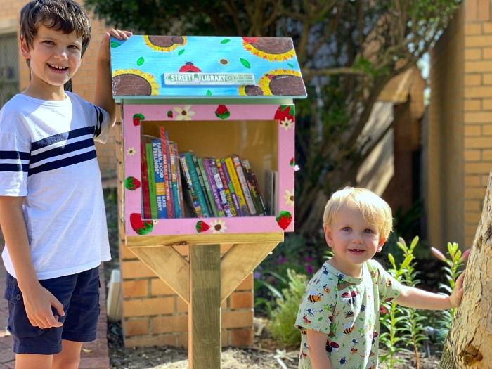 How we Montessori Children's Street Library Free Little Library Australia Sydney