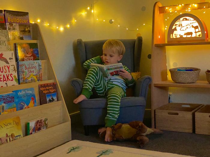 Montessori bedroom at three year old at How we Montessori