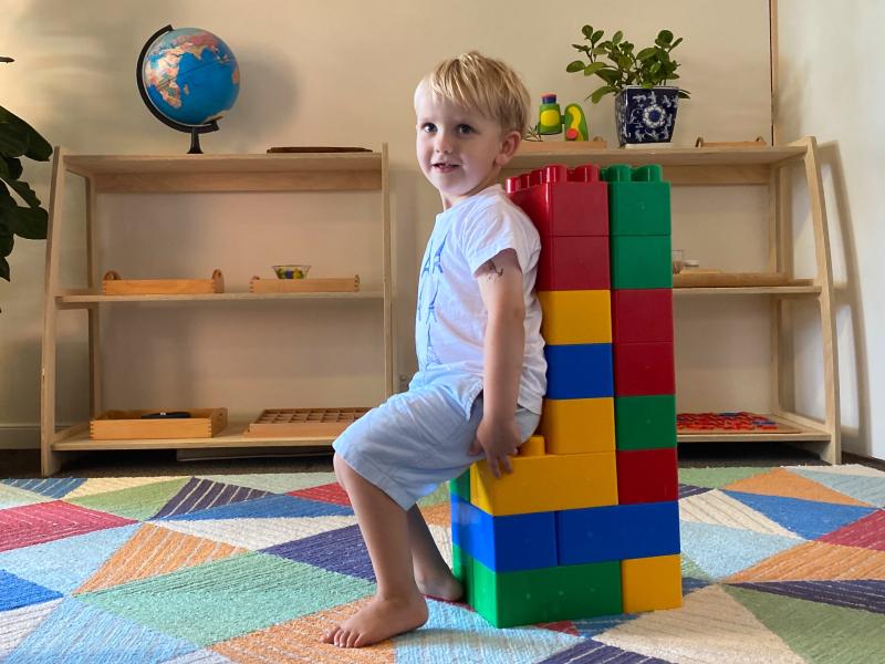 How we Montessori mega jumbo building blocks