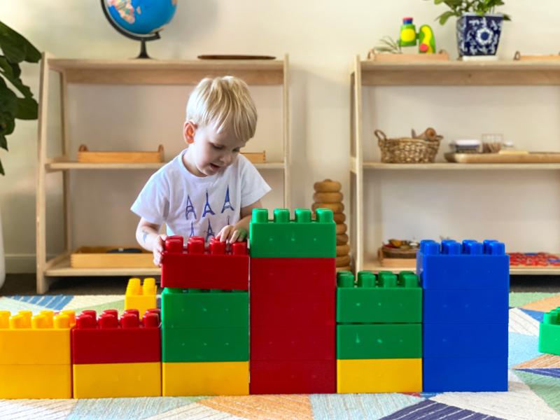 Mega jumbo blocks at how we montessori