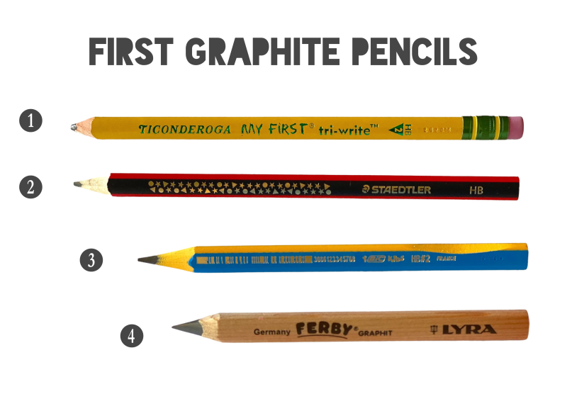 Best lead graphite pencils for kids beginners at How we Montessori 2021