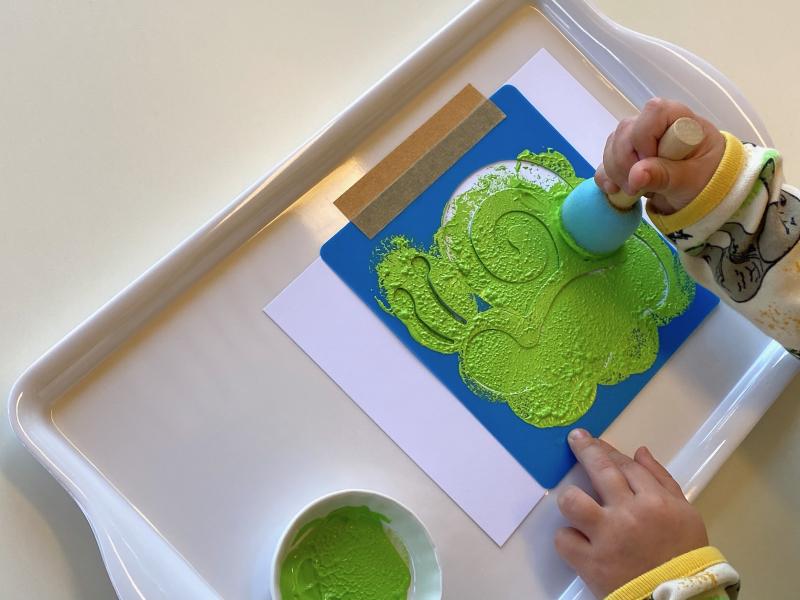 Stencil ideas fine motor skills at How we Montessori