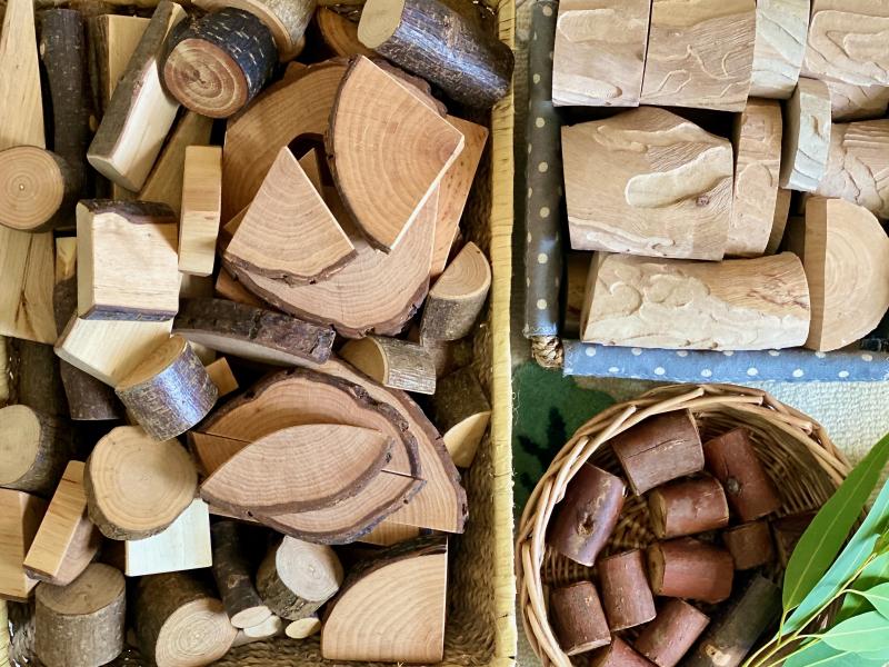 Nature tree branch blocks at How we Montessori (2)