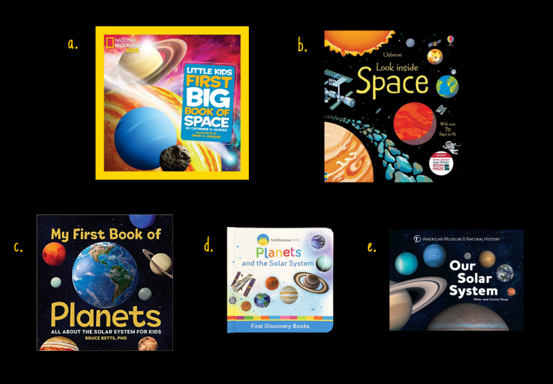 First Planet and Space books for kids at How we Montessori toddlers+.