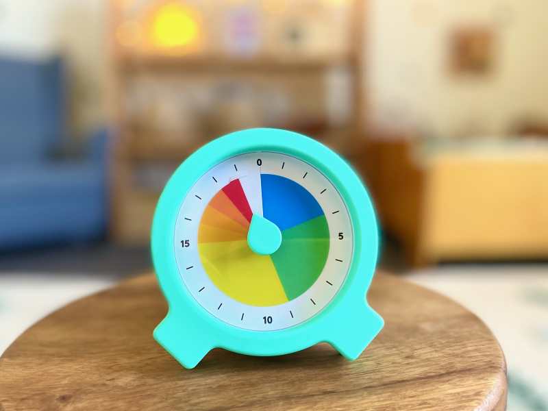 Lovevery Visual Timer at How we Montessori Countdown Color Timer (1)