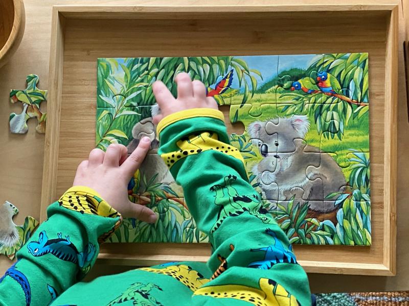 Koala Ravensburger puzzle at How we Montessori